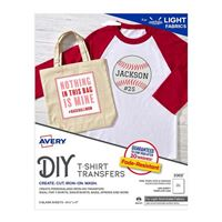 Avery 3302 Stretchable Heat Transfer Paper for Light Fabrics