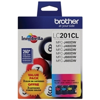 Brother LC201CL Color Ink Cartridge Value Pack