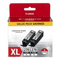 Canon PGI-270XL Pigment Black Ink Cartridge Twin Pack