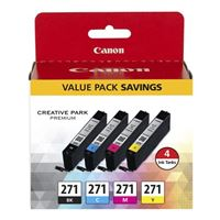 Canon CLI-271 Color Ink Cartridge 4 Pack