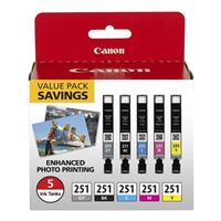 Canon CLI-251 Color Ink Cartridge 5 Pack