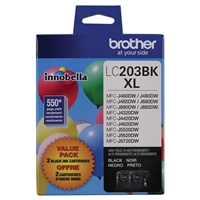 Brother LC203BL XL Black Ink Cartridge 2 Pack