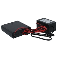 NTE Electronics EL Wire Battery Power Supply Drives up to 5m (On/Flash/Off Modes) AA Batteries