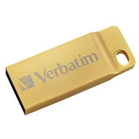 Verbatim 64GB Metal Executive USB 3.1 Flash Drive Gold