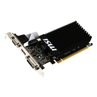 MSI GeForce GT 710 Low Profile Passive Cooled 1GB DDR3 PCIe 2.0...