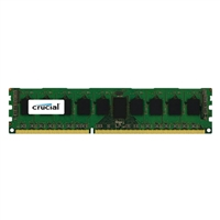 Crucial 8GB DDR3-1600 PC3-12800 CL11 Single Channel Server Memory Module - Green