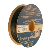 Proto-Pasta 1.75mm Black PLA 3D Printer Filament - 0.5kg Spool (1.1 lbs)