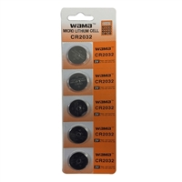Dantona Industries CR2032 Lithium 3 Volt Batteries - 5 Pack