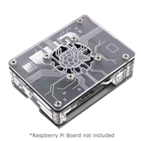 C4Labs Zebra Virtue Raspberry Pi 3 Model B Case - Black Mist