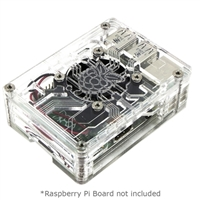 C4Labs Zebra Virtue Raspberry Pi 3 Model B Case - Crystal