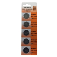 Dantona Industries CR2025 3 Volt Lithium Coin Cell Battery - 5 Pack