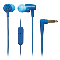 Audio-Technica SonicFuel Earbuds w/ Mic - Blue