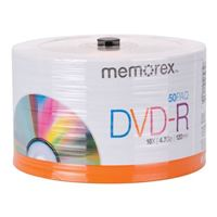 Memorex DVD-R 16x 4.7GB/120 Minute Disc 50-Pack Spindle