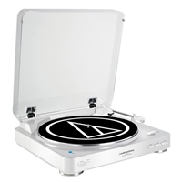 Audio-Technica Wireless Belt-Drive Stereo Turntable - White