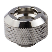 "PrimoChill G 1/4"" RevolverSX Straight Compression Fitting 6 Pack - Nickel"