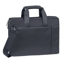 "RIVACASE Laptop Briefcase Fits Screens up to 13.3"" - Black"