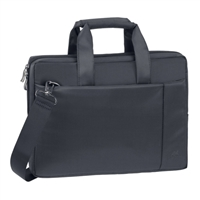 "RIVACASE Laptop Briefcase Fits Screens up to 15.6"" - Black"