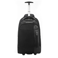 "Eco Style Tech Exec Rolling Backpack Fits up to 17.3"" - Black"