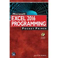 Stylus Publishing Excel 2016 Programming Pocket Primer