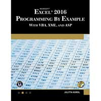 Stylus Publishing Microsoft Excel 2016 Programming by Example