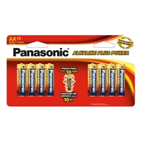 Panasonic Alkaline Plus Power AA Battery - 16 pack