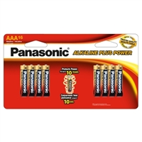 Panasonic Alkaline Plus Power AAA Battery - 16 pack