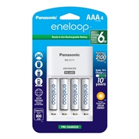 Panasonic Energy of America Eneloop Charger w/ (4) AAA Batteries