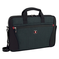 "Swiss Gear Structure Laptop Sleeve Fits Screens up to 14"" - Blue Heather/Black"