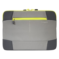"Targus Bex II Laptop Sleeve Fits Screens up to 14"" - Gray/Spring Yellow"