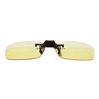 HornetTek Anti Blue Light Computer Glasses with Pouch and Cloth Yellow Clip On Lens