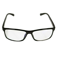 HornetTek Anti Blue Light Computer Glasses with Pouch and Cloth Black Frame