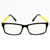 HornetTek Anti Blue Light Computer Glasses with Pouch and Cloth Yellow Frame