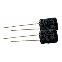 NTE Electronics Aluminum Electrolytic 25V 330uF Radial Lead Capacitor - 2 Pack