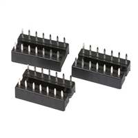 NTE Electronics Socket for 14 Lead DIP Type - 3 Pack