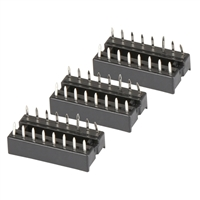 NTE Electronics Socket for 16 Lead DIP - 3 Pack