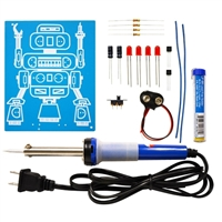 Elenco LED Robot Blinker Soldering Kit with Iron and Solder