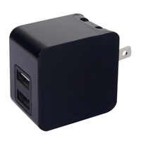iEssentials 3.4 Amp Dual USB Type-A Wall Charger - Black