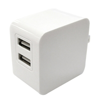 iEssentials 3.4 Amp Dual USB Type-A Wall Charger - White