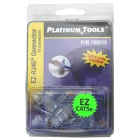 Platinum Tools Cat 5e Modular Connectors for Network Cables 15 Pack