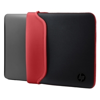 "HP Reversible Laptop Sleeve Fits Screens up to 15.6"" - Black/Red"