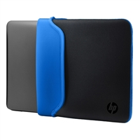 "HP Reversible Laptop Sleeve Fits Screens up to 15.6"" - Black/Blue"