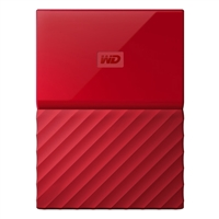 "WD My Passport 4TB USB 3.0 2.5"" Portable External Hard Drive - Red"