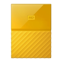 "WD My Passport 4TB USB 3.1 (Gen 1 Type-A) 2.5"" Portable External Hard Drive - Yellow"