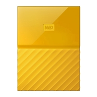 "WD My Passport 2TB USB 3.0 2.5"" Portable External Hard Drive - Yellow"