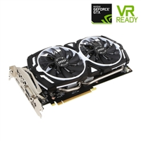 MSI Armor V1 GeForce GTX 1060 Overclocked Dual-Fan 6GB GDDR5 PCIe Video Card