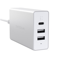 Satechi Aluminum USB Type-C Travel Charger - Silver
