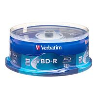 Verbatim BD-R 6x 25 GB/135 Minute Disc 25-Pack Spindle