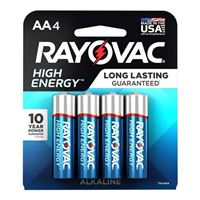 Rayovac High Energy AA Alkaline Battery - 8 Pack