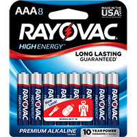 Rayovac High Energy AAA Alkaline Battery - 8 Pack