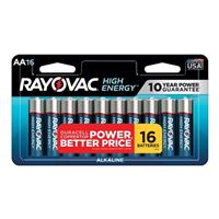 Rayovac High Energy AA Alkaline Battery - 16 pack
